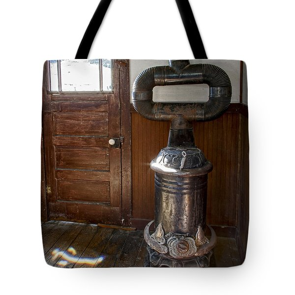 Coles Hot Blast Stove - Molson Ghost Town Tote Bag by Daniel Hagerman
