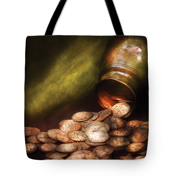 Collector - Coin - Treasure Quest  Tote Bag by Mike Savad