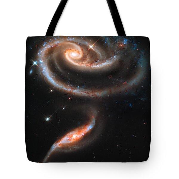 Colliding Galaxies Tote Bag by Nicholas Burningham