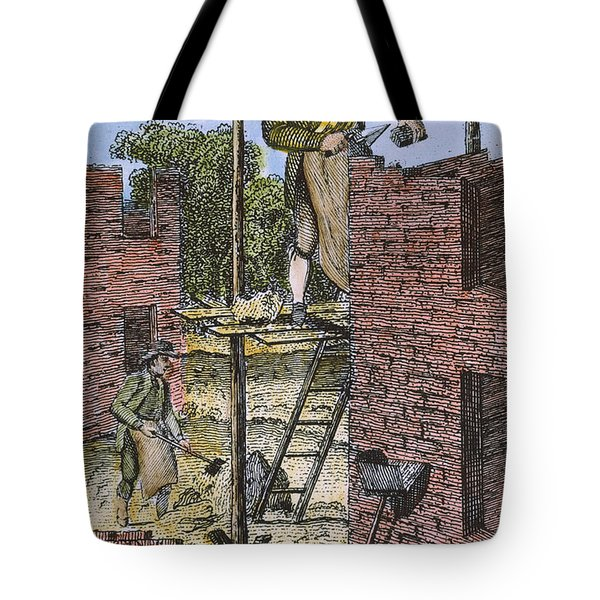 Colonial Bricklayer, 18th C Tote Bag by Granger
