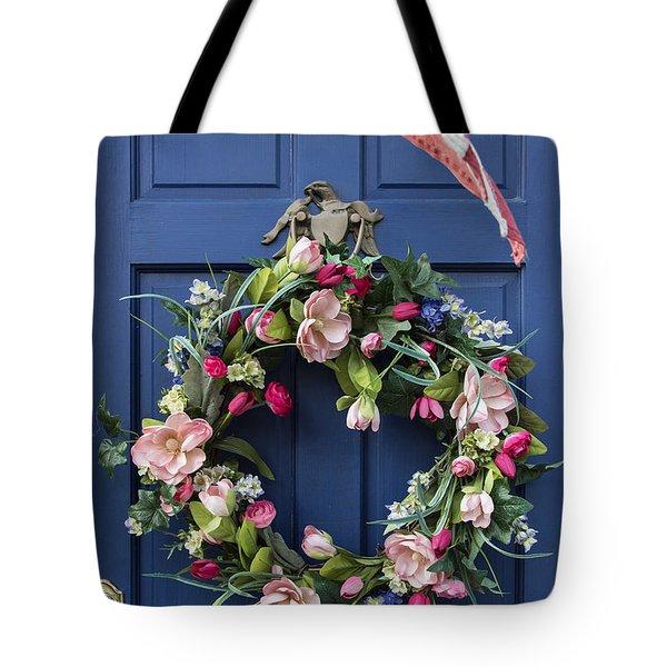 Colonial Door Tote Bag by John Greim