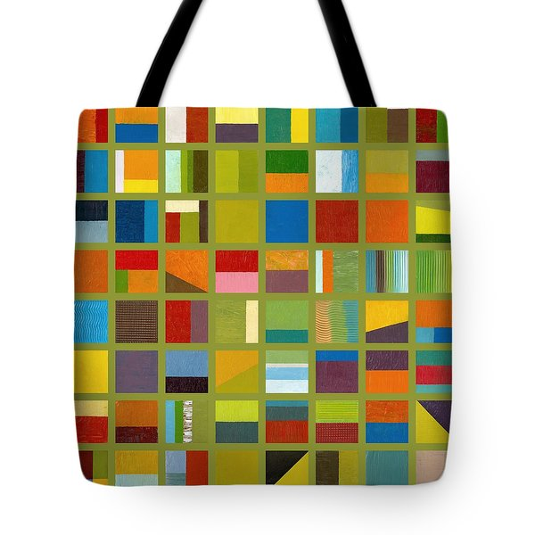 Color Study Collage 64 Tote Bag by Michelle Calkins