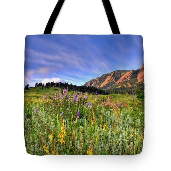 Colorado Wildflowers Tote Bag by Scott Mahon