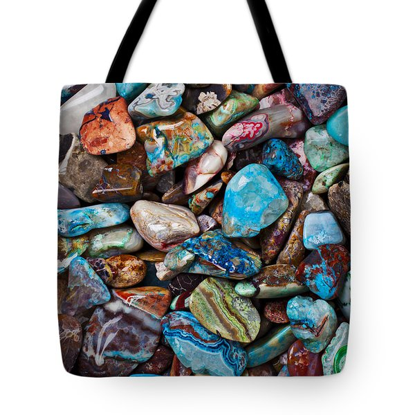 Colored Polished Stones Tote Bag by Garry Gay