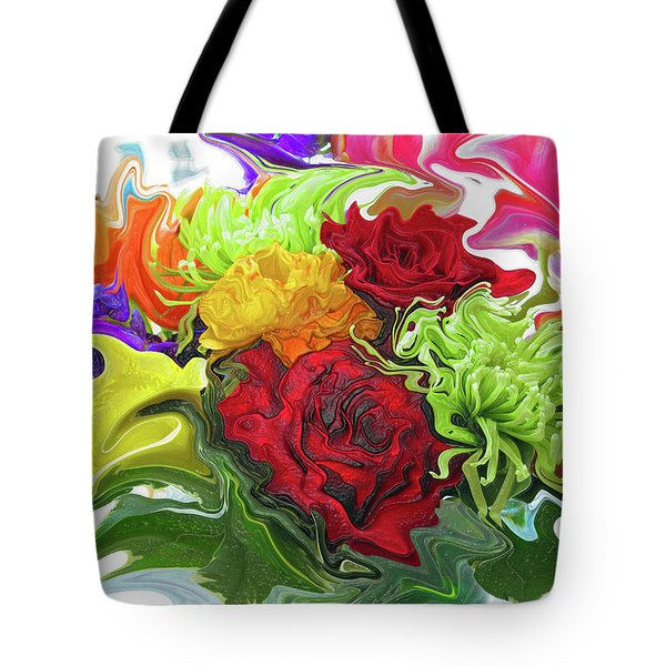 Colorful Bouquet Tote Bag by Kathy Moll