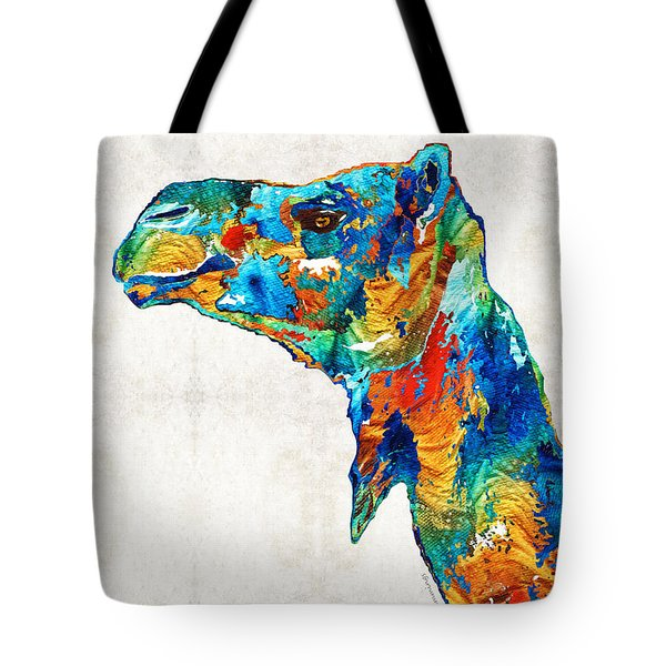 Colorful Camel Art By Sharon Cummings Tote Bag by Sharon Cummings