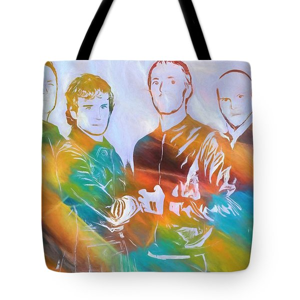 Colorful Coldplay Tote Bag by Dan Sproul