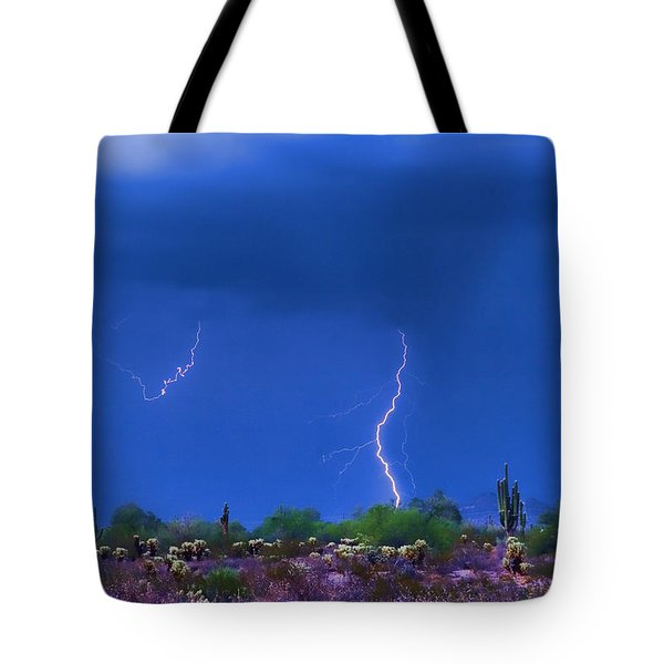 Colorful Desert Storm Tote Bag by James BO  Insogna
