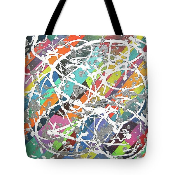 Colorful Disaster Aka Jeremy's Mess Tote Bag by Jeremy Aiyadurai