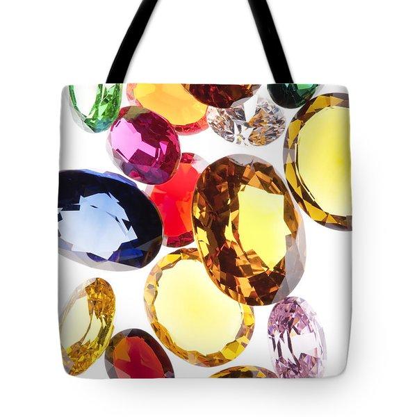 colorful gems Tote Bag by Setsiri Silapasuwanchai