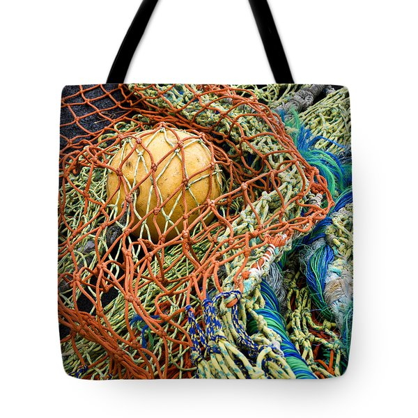 Colorful Nets And Float Tote Bag by Carol Leigh