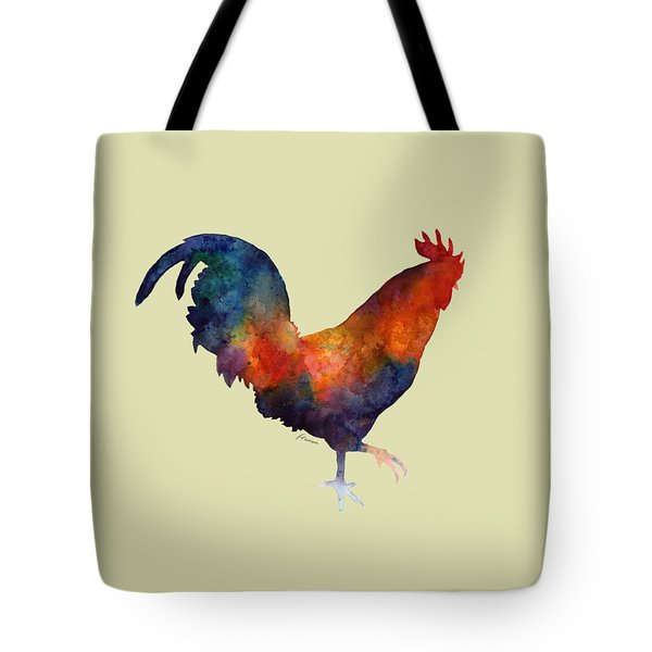 Colorful Rooster Tote Bag by Hailey E Herrera
