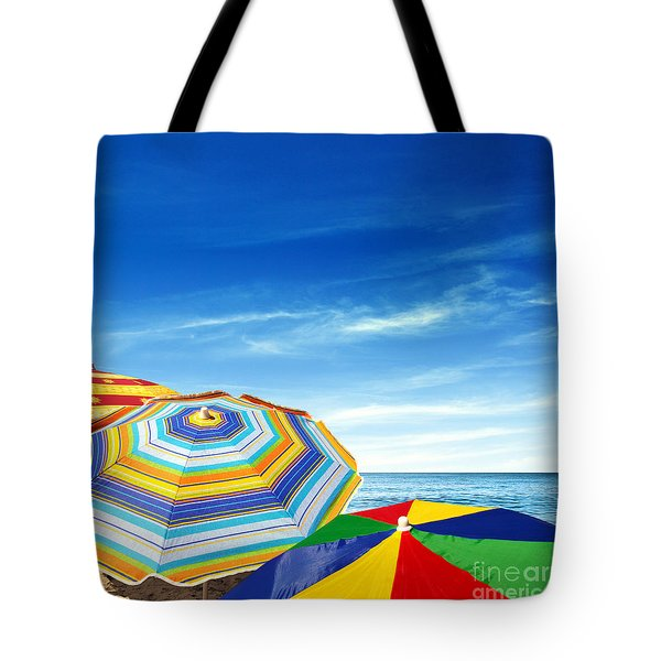 Colorful Sunshades Tote Bag by Carlos Caetano