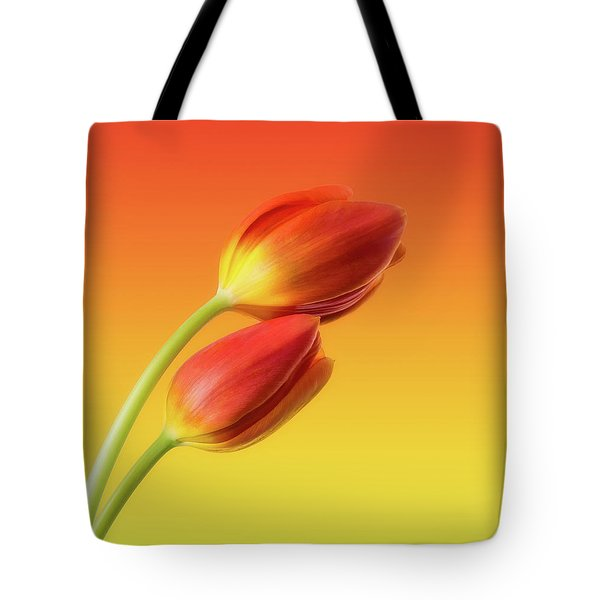 Colorful Tulips Tote Bag by Wim Lanclus