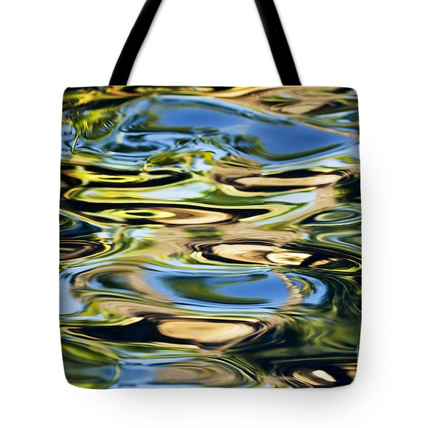 Colorful Water Ripples Tote Bag by Dave Fleetham - Printscapes