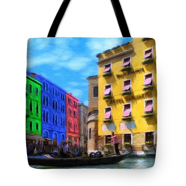 Colors of Venice Tote Bag by Jeff Kolker