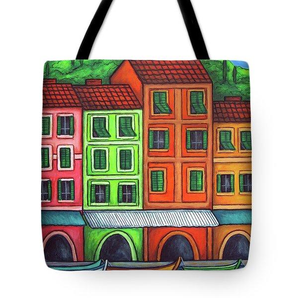 Colours of Liguria Tote Bag by Lisa  Lorenz