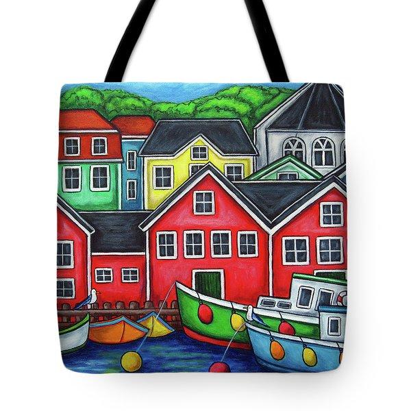 Colours of Lunenburg Tote Bag by Lisa  Lorenz