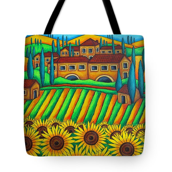 Colours of Tuscany Tote Bag by Lisa  Lorenz