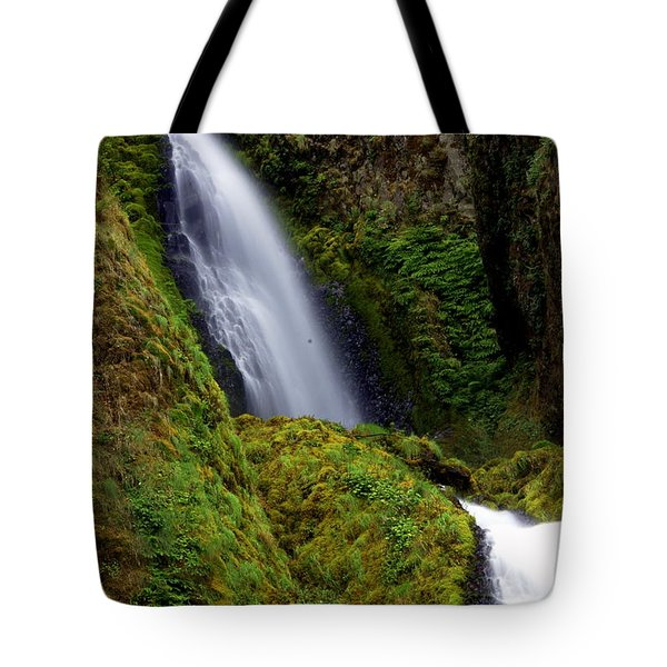 Columbia River Gorge Falls 1 Tote Bag by Marty Koch