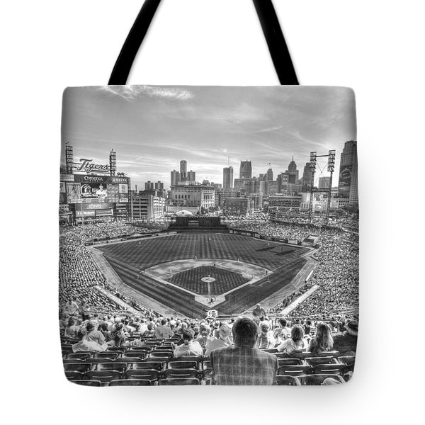 Comerica Park Tote Bag by Nicholas  Grunas