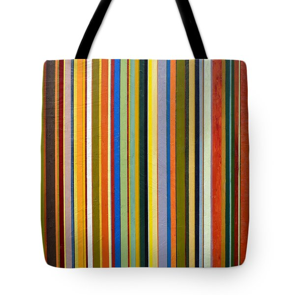 Comfortable Stripes Tote Bag by Michelle Calkins