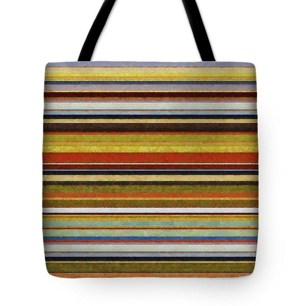 Comfortable Stripes Vl Tote Bag by Michelle Calkins