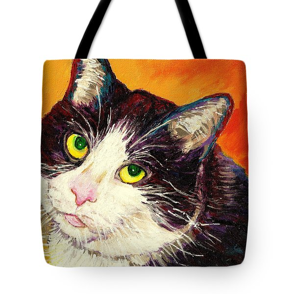 COMMISSION YOUR PETS PORTRAIT BY ARTIST CAROLE SPANDAU BFA ECOLE DES BEAUX ARTS  Tote Bag by CAROLE SPANDAU