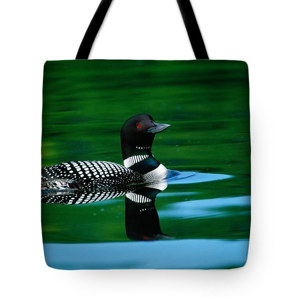 Common Loon In Water, Michigan, Usa Tote Bag by Panoramic Images