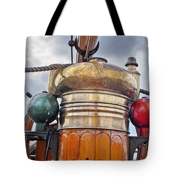 Compass And Wheel Tote Bag by Robert Lacy