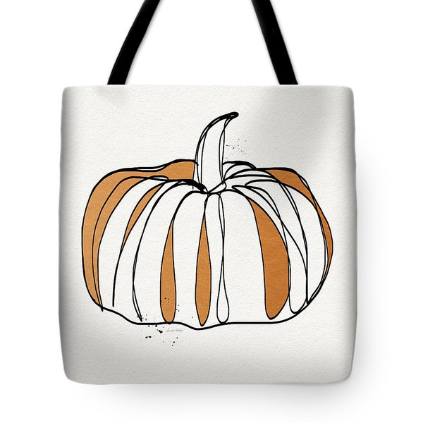 Contemporary Pumpkin- Art By Linda Woods Tote Bag by Linda Woods