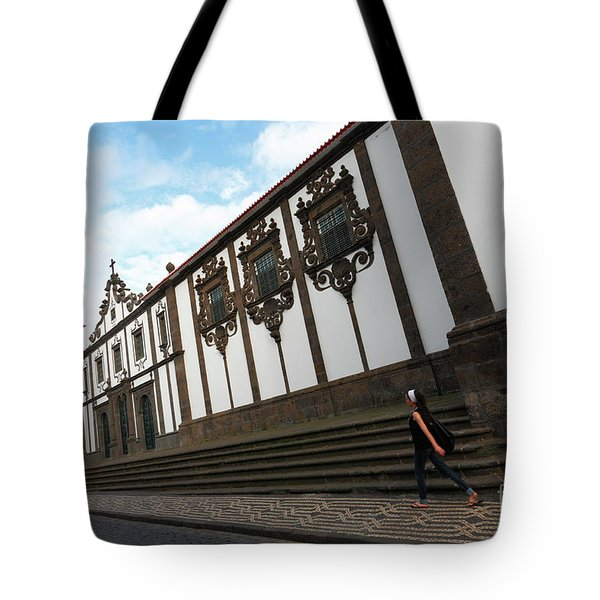 Convent In Azores Islands Tote Bag by Gaspar Avila