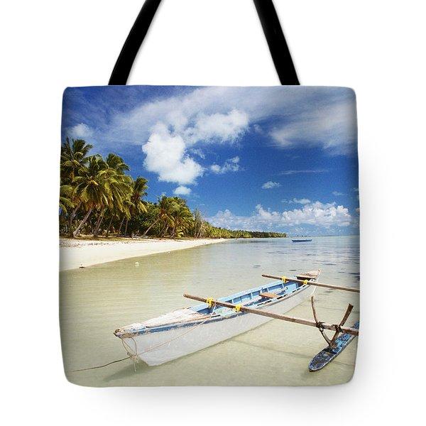 Cook Islands, Aitutaki Tote Bag by Bob Abraham - Printscapes
