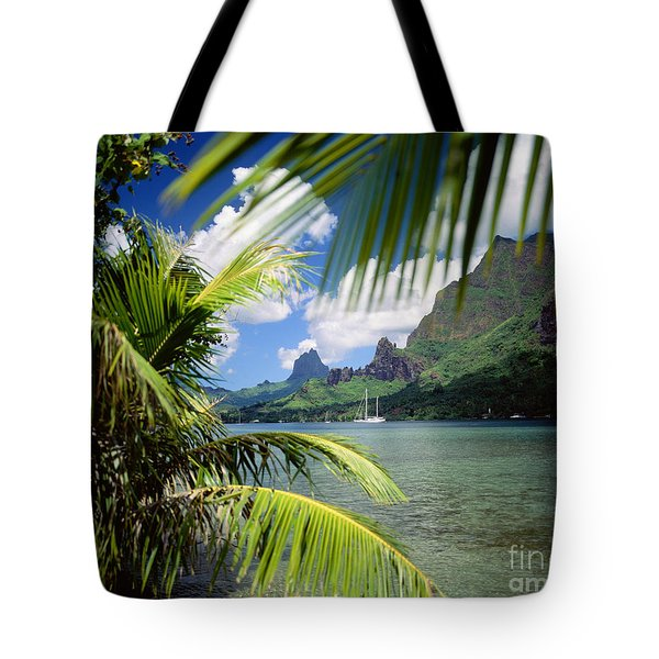 Cooks Bay With Sailboat Tote Bag by Ron Dahlquist - Printscapes