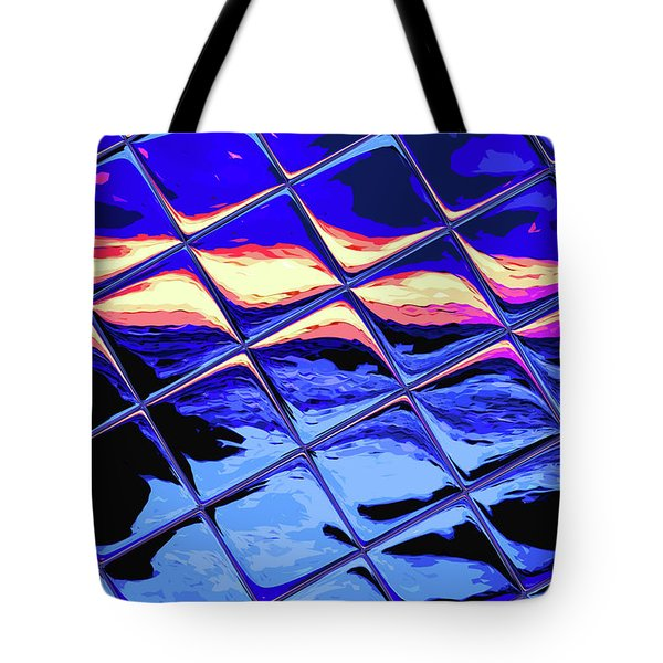 Cool Tile Reflection Tote Bag by Stephen Younts