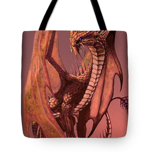 Copper Dragon Tote Bag by Stanley Morrison