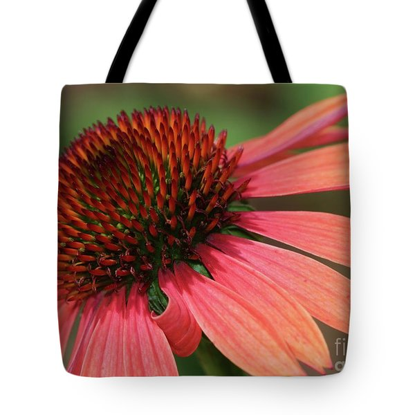 Coral Cone Flower Tote Bag by Sabrina L Ryan