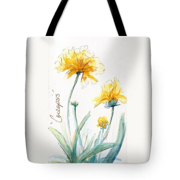 Coreopsis Tote Bag by CheyAnne Sexton