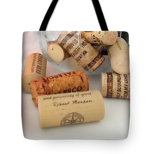 Corks Tote Bag by Cheryl Young