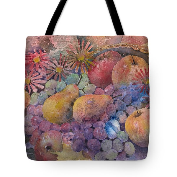 Cornucopia Of Fruit Tote Bag by Arline Wagner