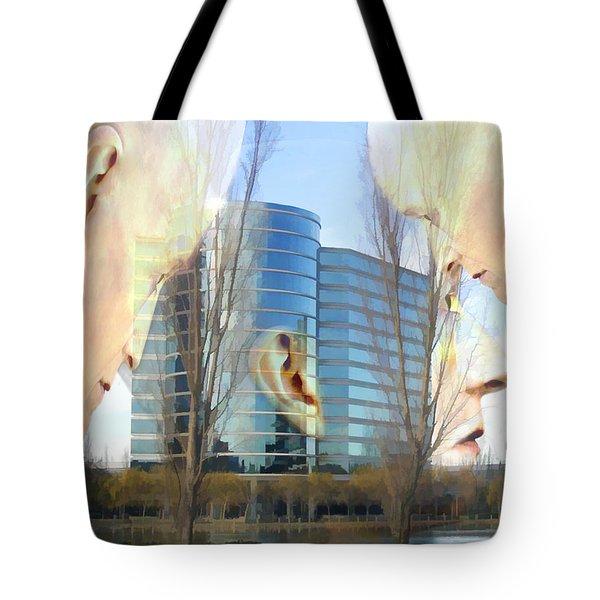 Corporate Cloning Tote Bag by Kurt Van Wagner