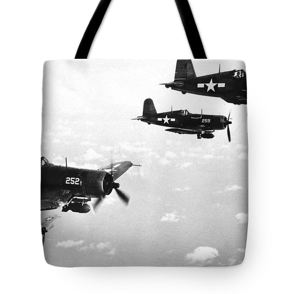 Corsair Planes  Us Airforce Tote Bag by American School