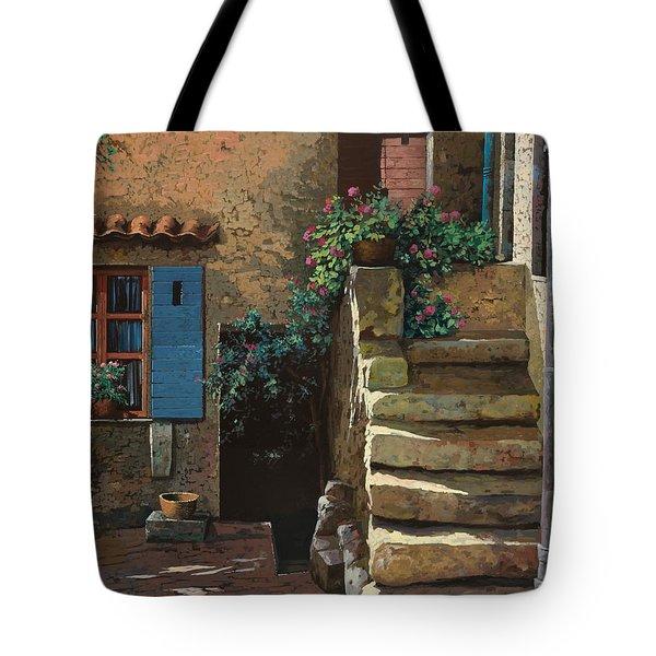 cortile interno Tote Bag by Guido Borelli