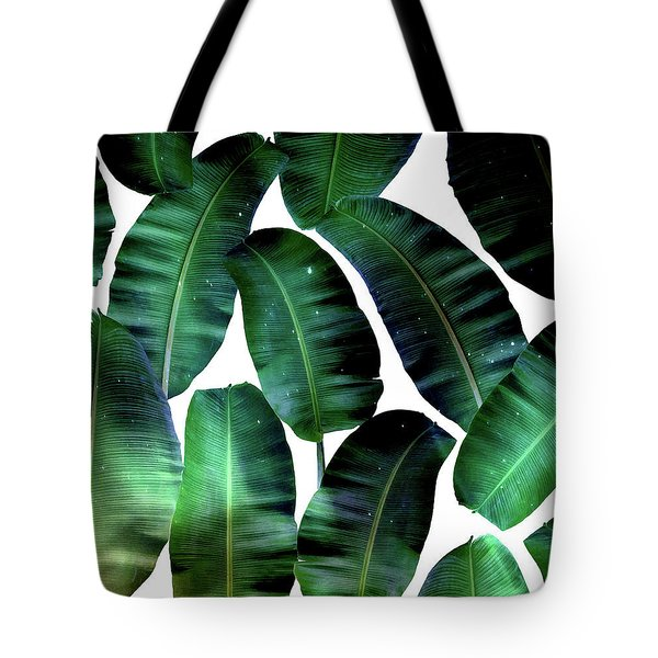 Cosmic Banana Leaves Tote Bag by Uma Gokhale