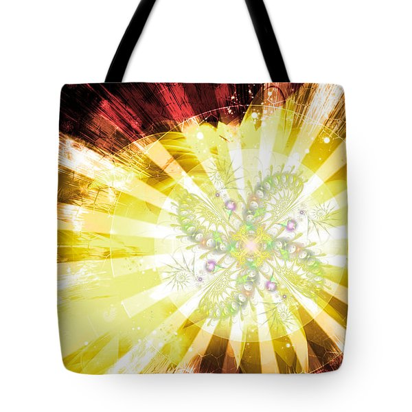 Cosmic Solar Flower Fern Flare 2 Tote Bag by Shawn Dall