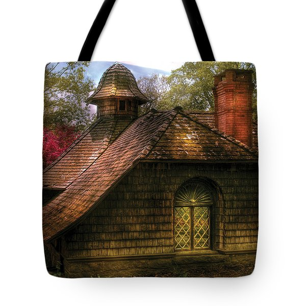 Cottage - Sweet Old Lady House Tote Bag by Mike Savad