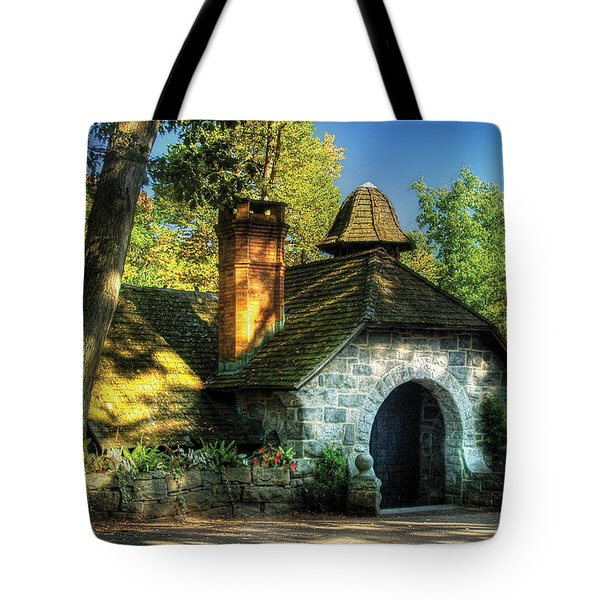 Cottage - The Little Cottage Tote Bag by Mike Savad