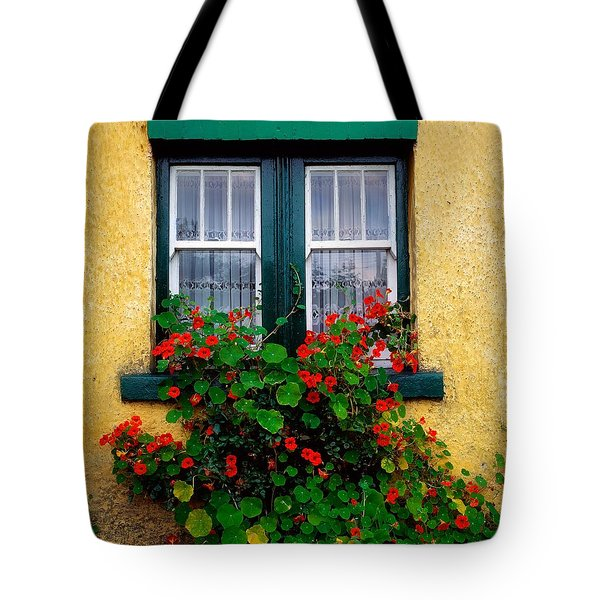 Cottage Window, Co Antrim, Ireland Tote Bag by The Irish Image Collection