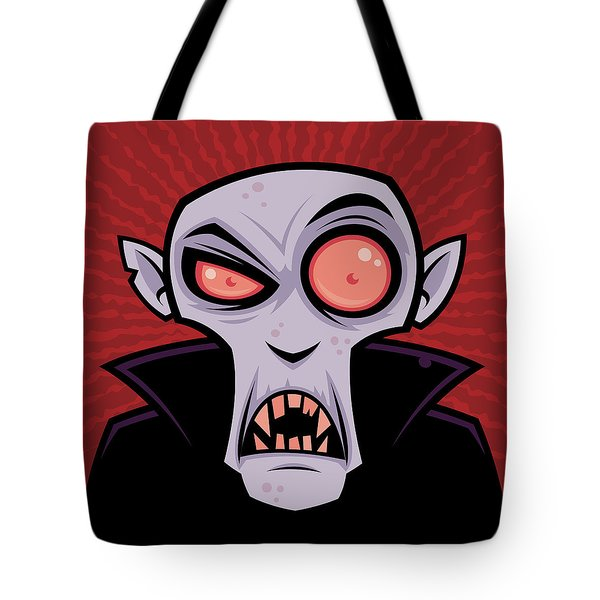 Count Dracula Tote Bag by John Schwegel