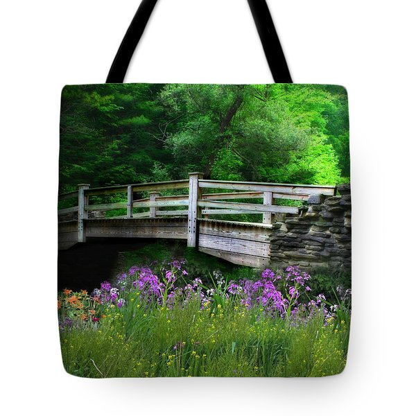 Country Bridge Tote Bag by Lori Deiter